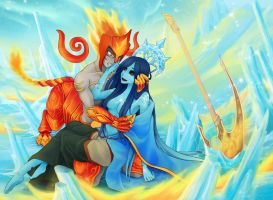 Fire and Ice by bluemallo