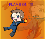 Human torch (chibi form) by Heterohetalialover