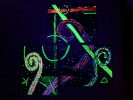 Blacklight Painting by DeviousTinky