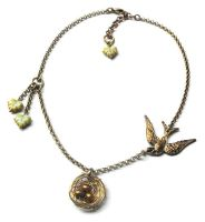 Bird Nest Necklace by JLHilton