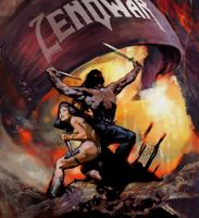 Zenowar Frazetta Pastiche by spoof-or-not-spoof