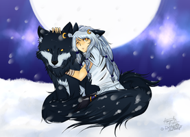 .:Latka - Wolf and Human:. by xHisLittleAngel