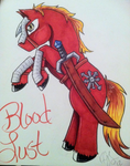 Blood Lust Pony by xx-Demon-Fox-xx