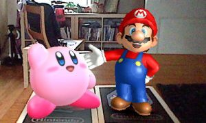 Mario and Kirby in 3DS by KingAsylus91