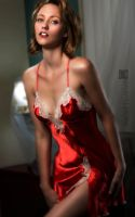 Sarah Red Satin by wbmstr