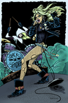 Black Canary and Spider-Gwen colours by giantboydetective