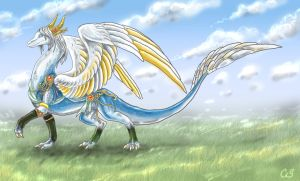 Adiv Krios: The Angelic Dragon by DragonCid