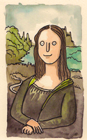Shitty Mona Lisa by ShittyWatercolour