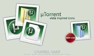 uTorrent Vista Inspired Icons by darkredbbb