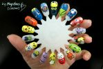 Pokemon Nail Art! by NamiiChan