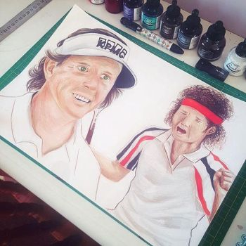 Commission: Phil Mickelson and John McEnroe by paper-violet