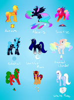 Adoptable Ponies Set 3 .:CLOSED:. by Adriyel-chan