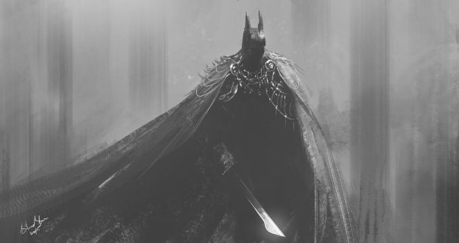 speed paint DARK KNIGHT (medieval theme :P) by shahzi00