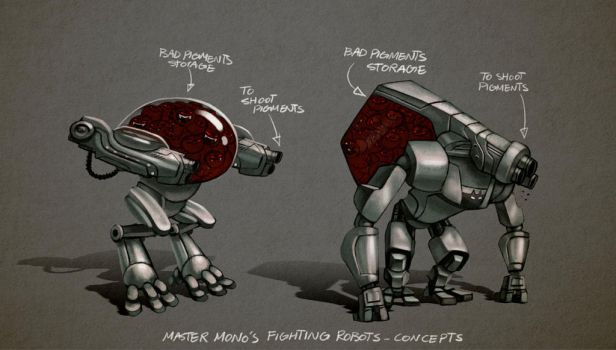 Pigments - Robots/Bad pigment shooters by Arashocky