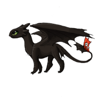 Toothless by Pinrescent