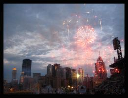 fireworks over pittsburgh by emicip