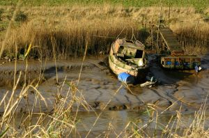 Derelict-Boat in a field 3 by Toby-1-kenobi