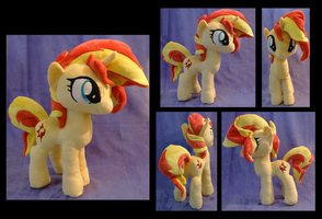 Sunset Shimmer Plush :Commission: by AppleDew