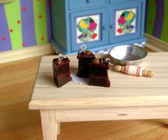 Miniature Chocolate Cake charm by Miss-Millificent
