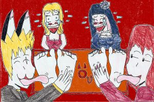 Panty and Stocking tickled by BetryedArtist