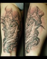Ink n Iron tree by PaintedPeople