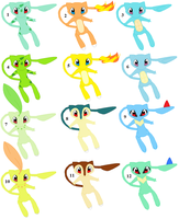 Mew Starter Adoptables Set 1 by YakasushiX