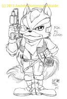 Fox McCloud 01 Lineart by Vladsnake