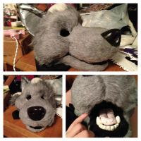 Fursuit Head WIP 2 by SweeneyxLovett4ever