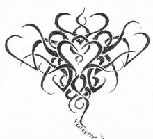Tribal Heart Tattoo Flash by semper-slut