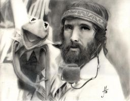 Jim Henson and Kermit by thewalkingman