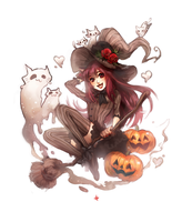 Cat Witch by Aikuwo