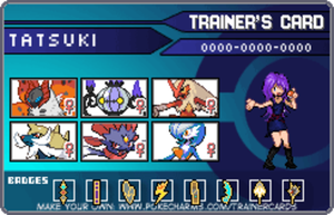 Trainer Card - Tatsuki by lucario515