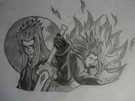 Saix and Axel by SpYrO100