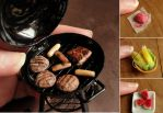 Barbecue in Miniature by fairchildart