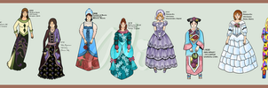 Historical Fashion Timeline Part 2 by Alexandra-chan
