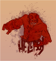 Hellboy by AtomicRedBoots
