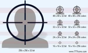 Aim with shadow Icon by military-icons