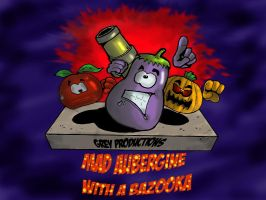 Mad Aubergine With a Bazooka by SnipperWorm