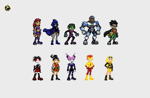 Teen Titan Sprites by Supersonicus