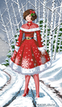 Winter Lolita - Red Version by AlbinoGrimby