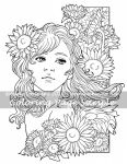 Art of Meadowhaven Coloring Page: Sunflowers by Saimain