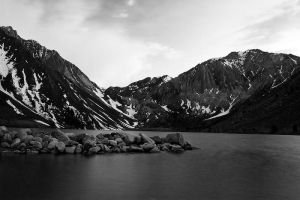 Dusk at Convict Lake in Mono by shubat