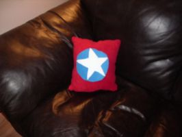 Cap'n Inspired Pillow by QTZephyr