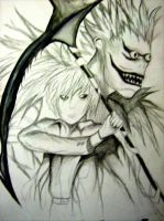 Light and Ryuk by VanillaxMog