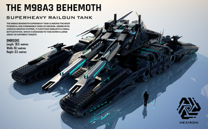 M98A3 Behemoth Superheavy Railgun Tank (UPDATED) by Duskie360