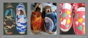 Customized/Hand-painted Espadrilles3 by suirinomoshi