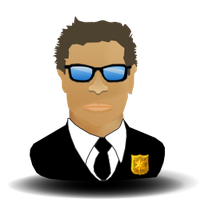 Security Agent Blue Glas by 3xhumed