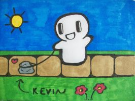 His pet rock, Kevin... by FreeBalloon