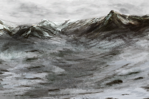 Mountains Speedpaint Study by RiseUndead