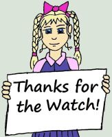chibi sign thanks for the watch by MelianOfMist